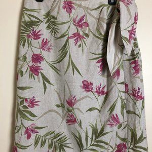 Liz Claiborne First Issue Floral Wrap Skirt